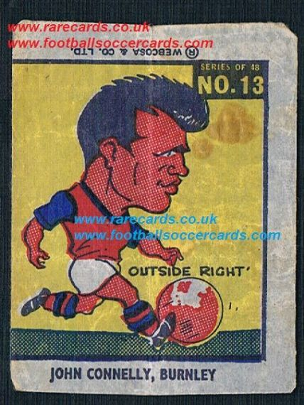 1960 Webcosa Burnley John Connelly  original wax paper gum insert